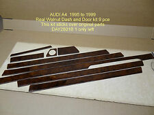 Audi A4 B5 REAL WALNUT WOOD DASH INTERIOR & DOOR KIT. MANY OTHER KITS AVAILABLE