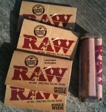 4 PKS RAW Unbleached Single Wide Papers and FREE 70mm Cigarette Rolling Machine