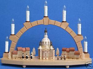 Schwibbogen Dresden Frauenkirche Fa. Zeidler Seiffen Erzgebirge Neu Lichterbogen