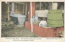 VT * Maple Sugar House Interior ca. 1910  * Series #10