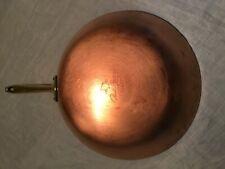 "Vintage Copper Revere Ware 10.5"" Skillet  signature Ware Paul Revere1801"