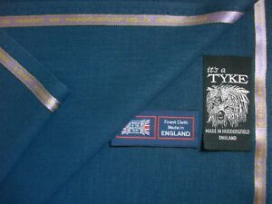 """45% WOOL & 55% POLYESTER SUITING FABRIC IN """"UCLA BLUE"""" - MADE IN ENGLAND = 3.4 m"""