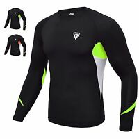RDX Compression Shirt MMA Rash Guard Gym Sports Base Layer Long Sleeve Training