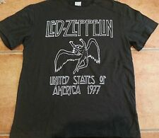 Amplified Led Zeppelin  Dark Charcoal T Shirt  Medium, Large Licensed!