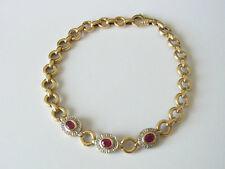 Wertvolles Goldarmband 585er massiv Gold mit Rubin und Diamant