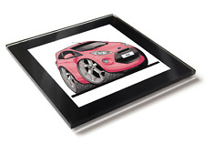 Koolart Cartoon Car Ford KA Mark 2 Glass Table Coaster With Gift Box