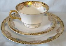 Edelstein Beate 3042  Art Deco Cup Saucer Trio Set