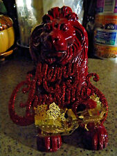 WROUGHT IRON CHRISTMAS LIONS REGAL LEO LIONS SOLSTICE YULE OLD WORLD SOLSTICE
