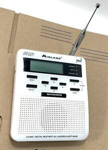 Midland Weather Radio Public Alert NOAA Antenna Model WR-100 White NO Cable