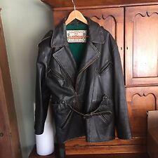 LEGEND Brown Leather HIGH QUALITY Men Coat Jacket motorcycle Medium