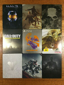 PS4 or XBox One Steelbook Metal Case *NO GAME* G2 (Blu-ray size) G1 (DVD size)