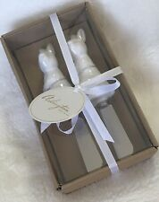 Butter Cheese Spreader Knives Bunny Rabbit Easter Set of 2 Arlington Design