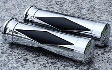 Yamaha VMax V-Max Virago 250 535 750 1100 CHROME DIAMOND HAND GRIPS