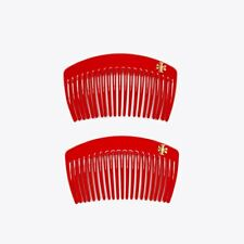 Tory Burch Hair Comb Set, Red, Set of 2