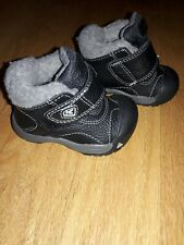 Keen Kootenay Black Leather Boots Toddler Boys Size 4