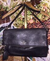 Kate Spade Plush Soft Leather Handbag Shoulder Bag Two Way Crossbody Carry Purse