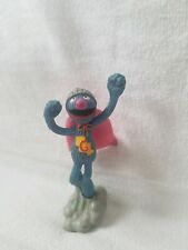 """Muppets Applause 1990s Super Grover PVC Toy Figure Cake Topper  3 3/4"""""""