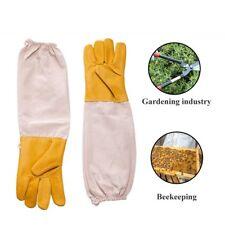 1pair Anti Bee Gloves Thick Sheepskin Beekeeping Equipment Yellow