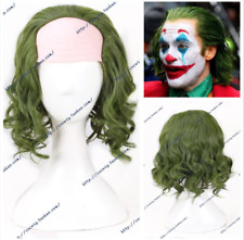 2019 Joker Short Green Curly Cosplay Party Wigs Halloween