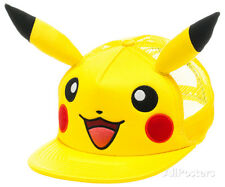 Pokemon - Pikachu Big Face W/Ears Hat ONE SIZE - Yellow