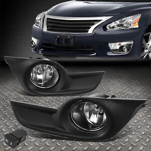 FOR 13-15 NISSAN ALTIMA CRYSTAL OE STYLE FRONT DRIVING FOG LIGHTS W/BEZEL+SWITCH
