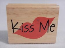 Greenbrier Rubber Stamp - Kiss Me with Lips