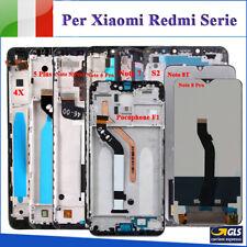 DISPLAY LCD TOUCH PER XIAOMI REDMI NOTE 5/NOTE 7/NOTE 4X/NOTE 8T SCHERMO VETRO