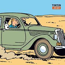 Hergé - Calendrier Tintin et les autos – Calendrier 2020 - Format 30 cm / 30 cm