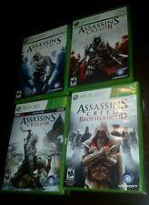 Assassin creed  I  ii iii and brotherhood  xbox 360