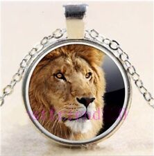"""CAT LION ANIMAL ZOO pendant Silver 20"""" Necklace women mom female FREE $10 GIFT"""