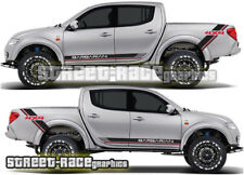 Mitsubishi L200 015 side racing stripe stickers decals graphics Barbarian