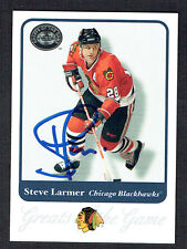 Steve Larmer #24 signed autograph auto 2001 Fleer Hockey Greats of the Game GOTG