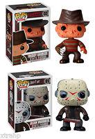 """Funko Pop Freddy Krueger and Jason Voorhees Horror Movie Set 3.75"""" Vinyl"""