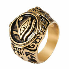 Pharaoh Men's Fashion Jewelry Rings Gift Stainless Steel The Eye of Horus Egypt