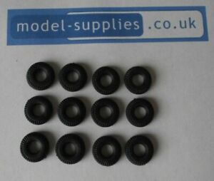 Spot On Black Reproduction Rubber Tyres 14mm O/D fits A40, Morris & others -12PK