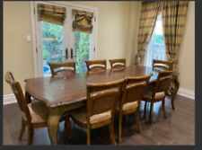 Marble Dining Table And 6 Leather Chairs