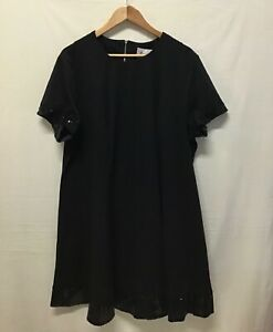 BNWT Threads Ladies Swing Dress Black Sequin Embellished Panelled Size 24 (.003)