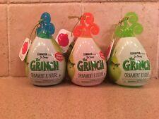 3 Dr. Seuss The Grinch Ornament & Figure Lot