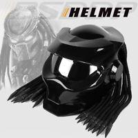 Vintage Predator Helmet Custom Motorcycle Helmet w/LED Fiberglass Street Bike