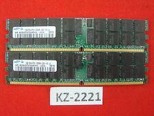 4GB 2x2GB Samsung DDR2 M393T5750BY0-CCC 400MHz ECC Server Memory 2Rx4 #KZ-2221