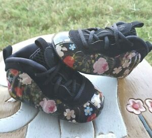 """Nike Little Posite One """"FLORAL"""" Girls' BRAND NEW Toddler 4C"""