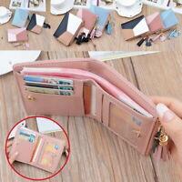 Damen Brieftasche Portemonnaie Kreditkartenetui Mini Geldbörse Kleine Geldbeutel