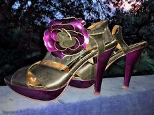 POETIC LICENCE by IRREGULAR CHOICE Ankle Flower HIGH HEELS Womens Shoes Sz 10