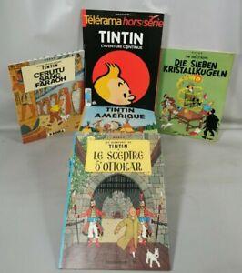 Lot BD 15 Bandes Dessinees Les Aventures De TINTIN Casterman HERGE albums H1