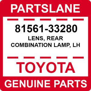 81561-33280 Toyota OEM Genuine LENS, REAR COMBINATION LAMP, LH