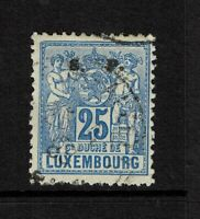 Luxembourg SC# O59, Used, Hinge Remnant, minor bending - S6594