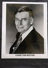 Charlton Heston Famous Film Actor Black & White Autographed Photograph