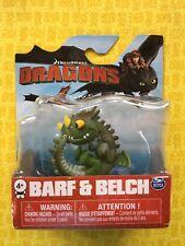 HOW TO TRAIN YOUR DRAGON DRAGONS BARF & BELCH ZIPPLEBACK MINI GREEN FIGURE