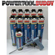 PU Expanding Foam Kit-10 Soudal 750ml Professional Gun & Gun Cleaner 500ml
