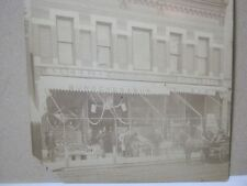 Antique Photograph Downtown Grocery Store Horse & Carriage   T*
